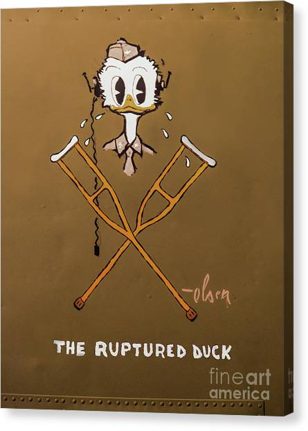 The Ruptured Duck Canvas Print