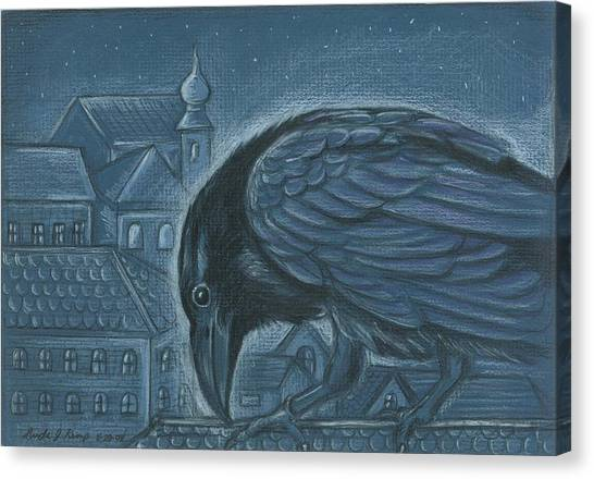 The Russian Raven Canvas Print
