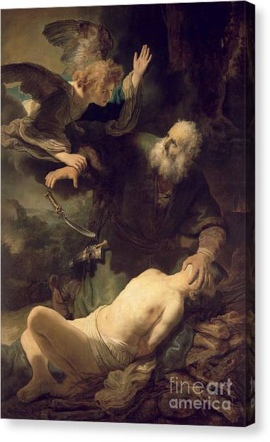 Rembrandt Canvas Print - The Sacrifice Of Abraham by Rembrandt