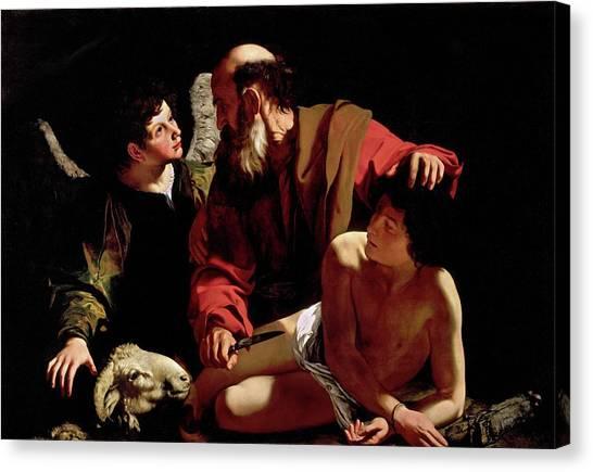 The Sacrifice Of Isaac Canvas Print