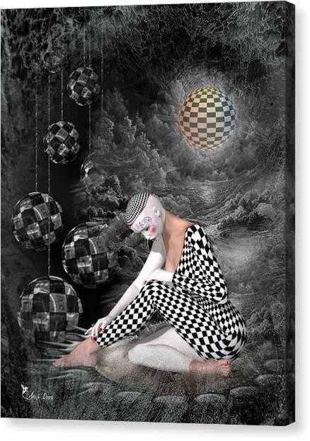 The Sad Pierrot Canvas Print