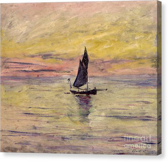 Painters Canvas Print - The Sailing Boat Evening Effect by Claude Monet