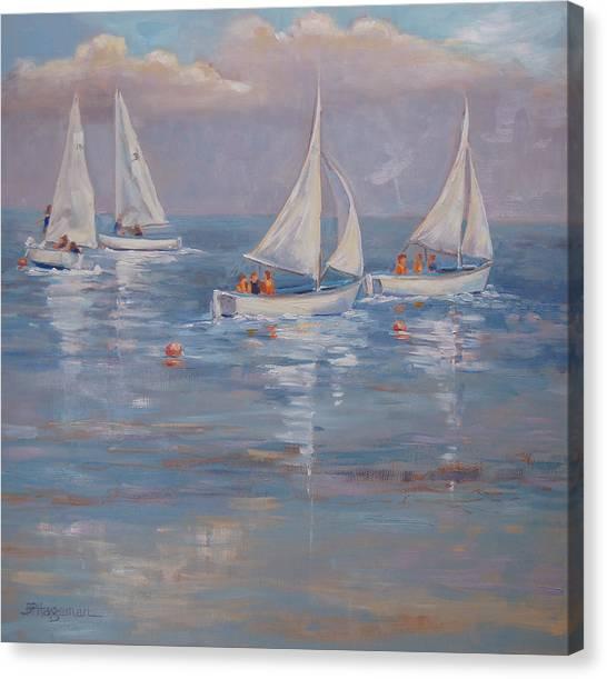The Sailing Lesson Canvas Print by Barbara Hageman