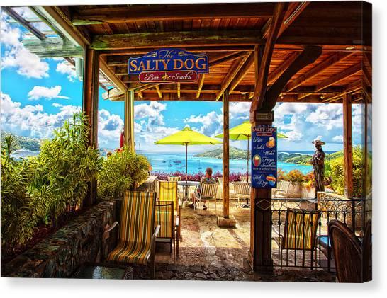 The Salty Dog Cafe St. Thomas Canvas Print