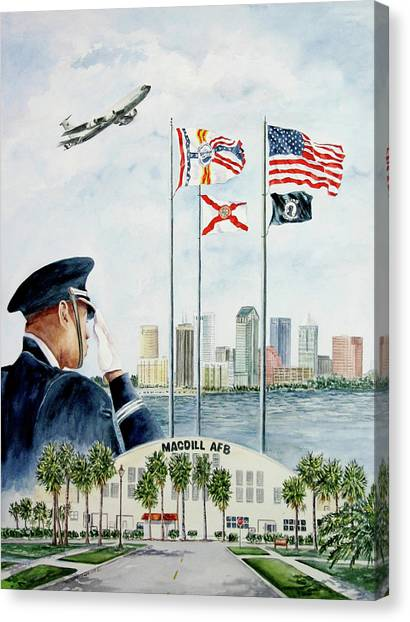 The Salute Canvas Print