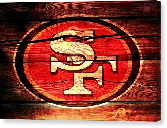 Jerry Rice Canvas Print - The San Francisco 49ers 3a by Brian Reaves