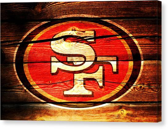 Jerry Rice Canvas Print - The San Francisco 49ers 3c by Brian Reaves