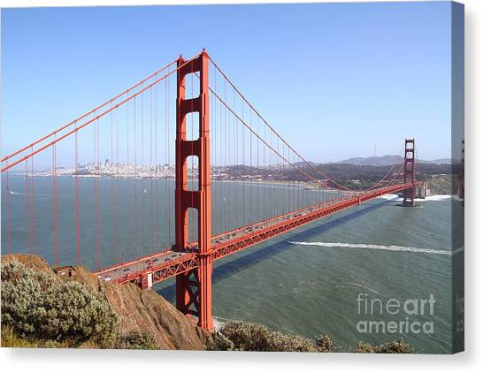 The San Francisco Golden Gate Bridge 7d14507 Canvas Print by Wingsdomain Art and Photography
