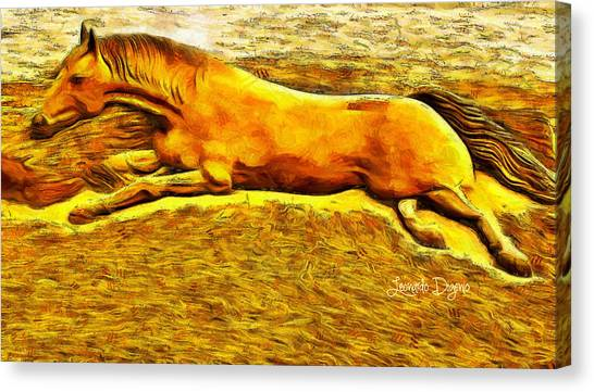 Occur Canvas Print - The Sand Horse by Leonardo Digenio