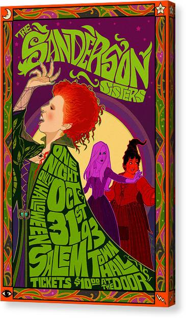 Halloween Canvas Print - The Sanderson Sister Live In Concert by Christopher Ables