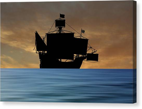Pilgrims Canvas Print - The Santa Maria 1460 V2 by Smart Aviation