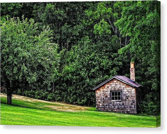 Old Houses Canvas Print - The Sauna By Sharon Cummings by Sharon Cummings