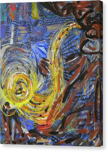 The Sax Man Canvas Print