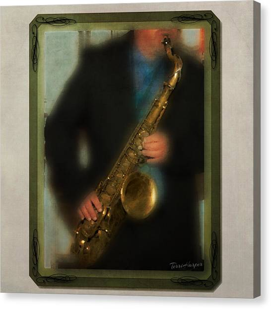 The Sax Player Canvas Print