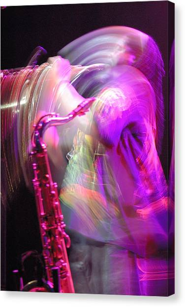 The Saxophone Player Canvas Print by Gerry Walden