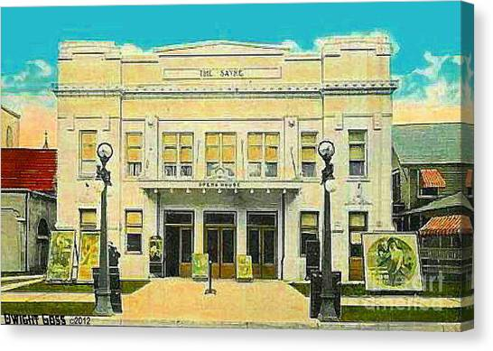 The Sayre Theatre And Opera House In Sayre Pa In 1925 Canvas Print