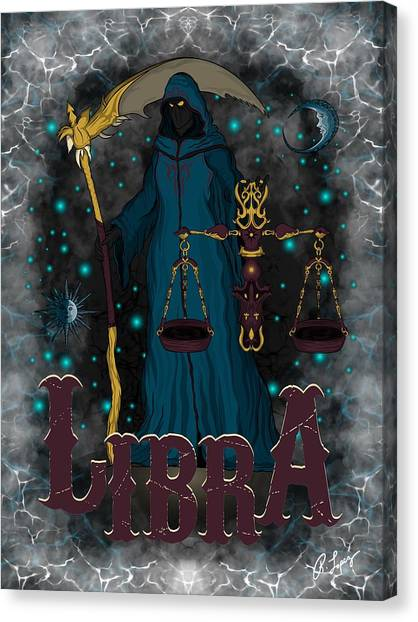 The Scale Libra Spirit Canvas Print