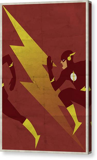 Lightning Canvas Print - The Scarlet Speedster by Michael Myers