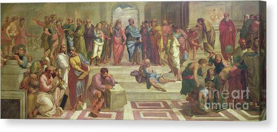 Athens Canvas Print - The School Of Athens, After Raphael  by Joshua Reynolds