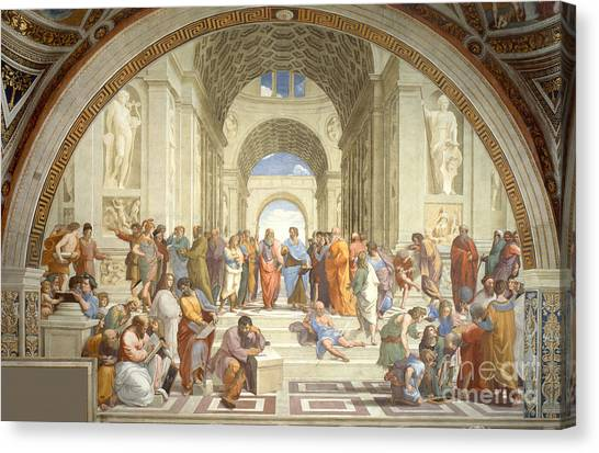 Philosopher Canvas Print - The School Of Athens, Raphael by Science Source