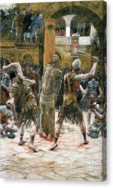 Holy Land Canvas Print - The Scourging by Tissot