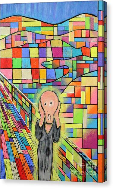 The Scream Jeremy Style Canvas Print