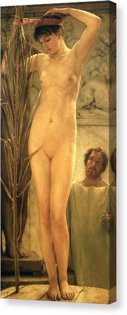 Naked Woman Canvas Print - The Sculptor's Model by Sir Lawrence Alma-Tadema