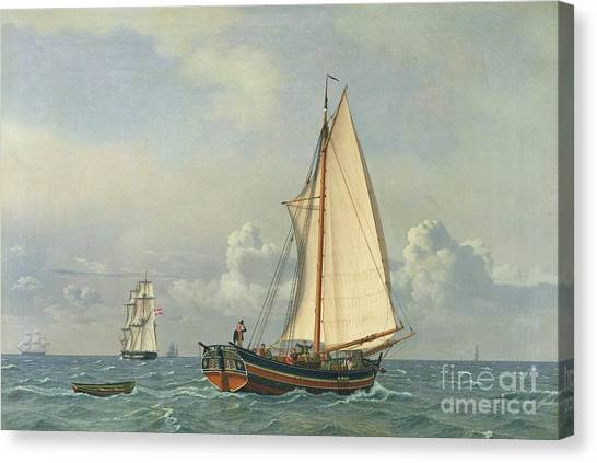Danish Canvas Print - The Sea by Christoffer Wilhelm Eckersberg