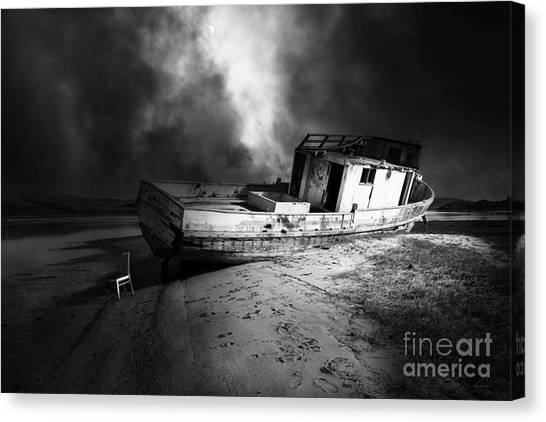 The Sea Never Gives Up Her Dead Dsc2099 Bw Canvas Print