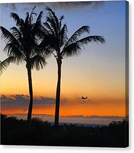 Prop Planes Canvas Print - Search Plane Over Hawaii by Eugene Evon