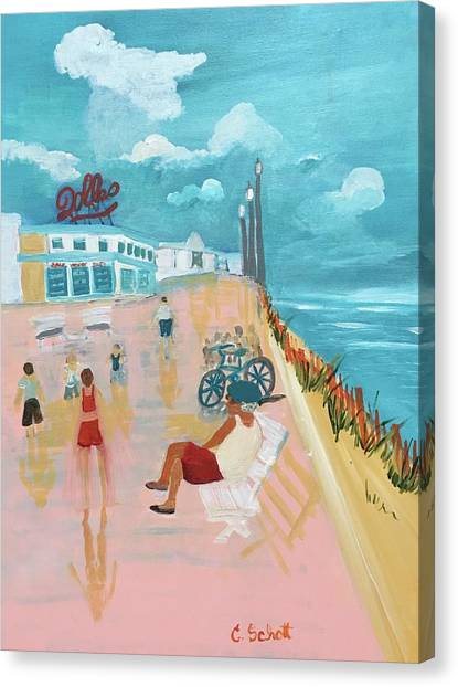 The Seaside Man Canvas Print