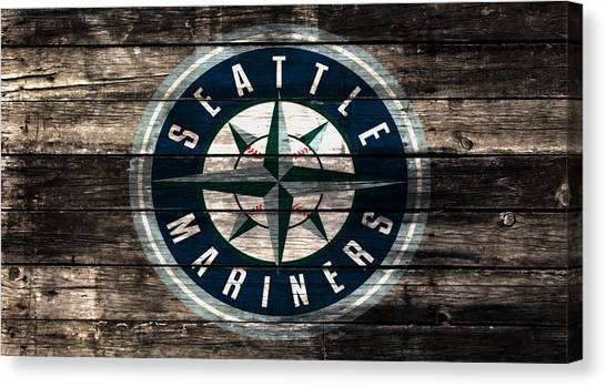 Seattle Mariners Canvas Print - The Seattle Mariners 3b by Brian Reaves