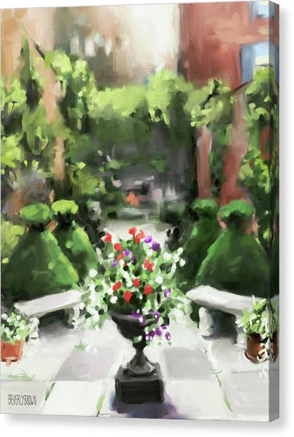 The Secret Garden Canvas Print by Beverly Brown