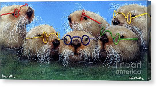 Otter Canvas Print - The See Otters... by Will Bullas