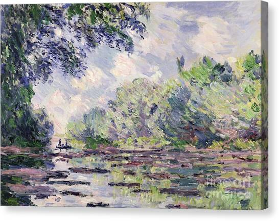 Overhang Canvas Print - The Seine At Giverny by Claude Monet