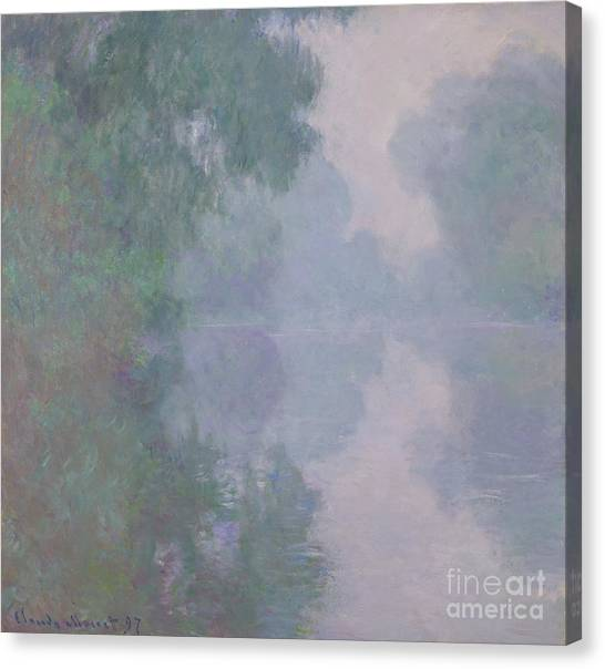 Murky Canvas Print - The Seine At Giverny, Morning Mists, 1897 by Claude Monet
