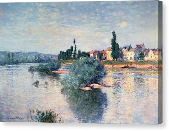Rivers Canvas Print - The Seine At Lavacourt by Claude Monet