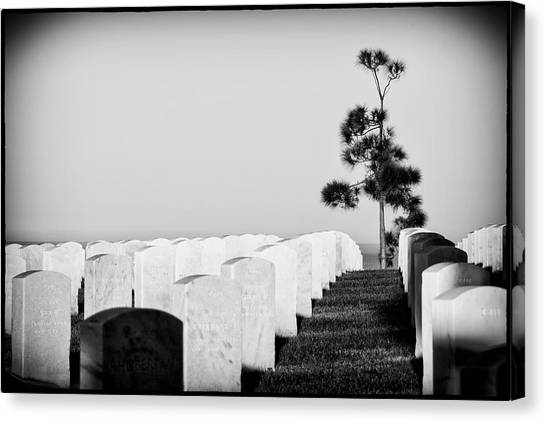 Fort Rosecrans National Cemetery Canvas Print - The Sentinel by Guy Shultz
