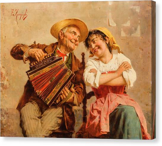 Music Genres Canvas Print - The Serenade by Eugenio Zampighi