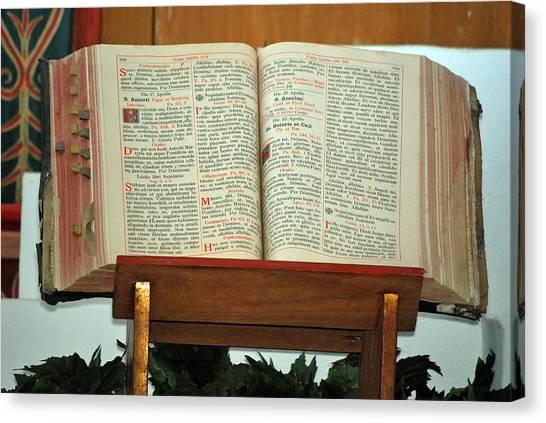 The Sermon Canvas Print by Teresa Blanton