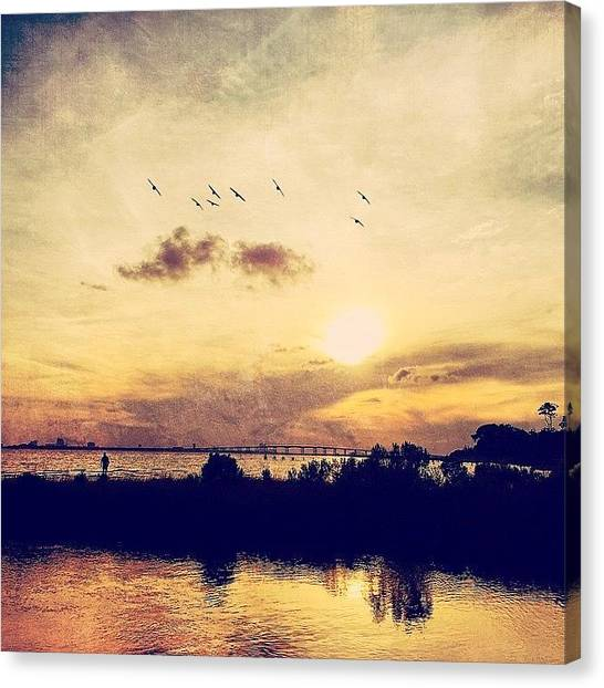 Mississippi Canvas Print - The Setting #mscoastlife #mississippi by Joan McCool