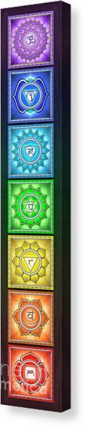 Mandal Canvas Print - The Seven Chakras - Series 2 Artwork 6 by Dirk Czarnota