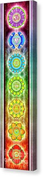 Mandal Canvas Print - The Seven Chakras - Series 3 Artwork 1 Se.1 by Dirk Czarnota