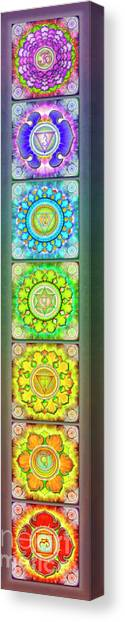Mandal Canvas Print - The Seven Chakras - Series 3 Artwork 2.1.1 by Dirk Czarnota