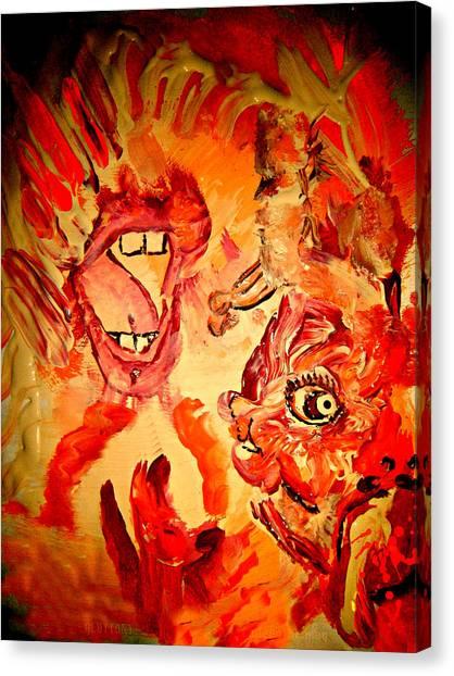 The Seven Sins Gluttony Canvas Print