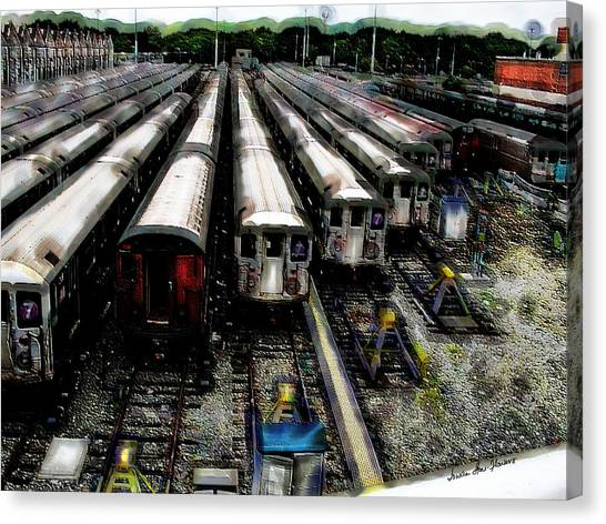 The Seven Train Yard Queens Ny Canvas Print