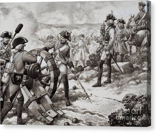 Black 7 White Canvas Print - The Seven Years' War by Pat Nicolle