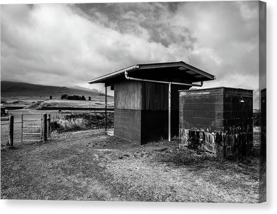 Canvas Print featuring the photograph The Shack by Break The Silhouette