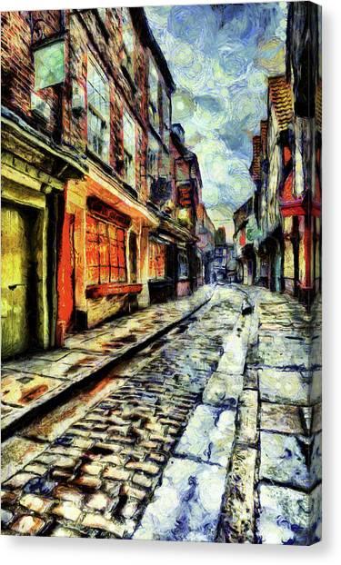 Briton Canvas Print - The Shambles York Van Gogh by David Pyatt