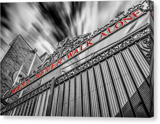 Liverpool Fc Canvas Print - The Shankly Gates - Anfield by Paul Madden
